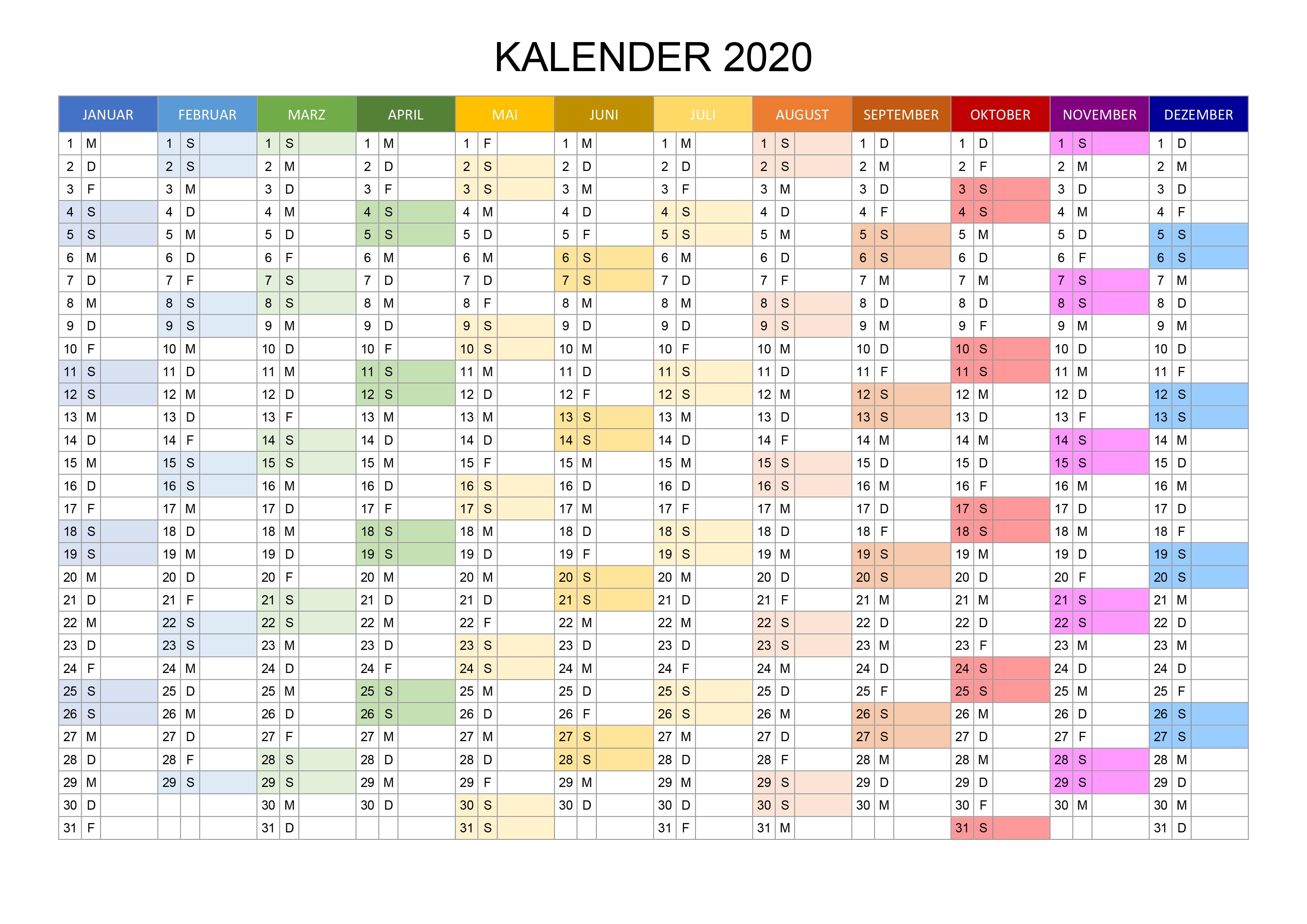 jahreskalender 2020 pdf